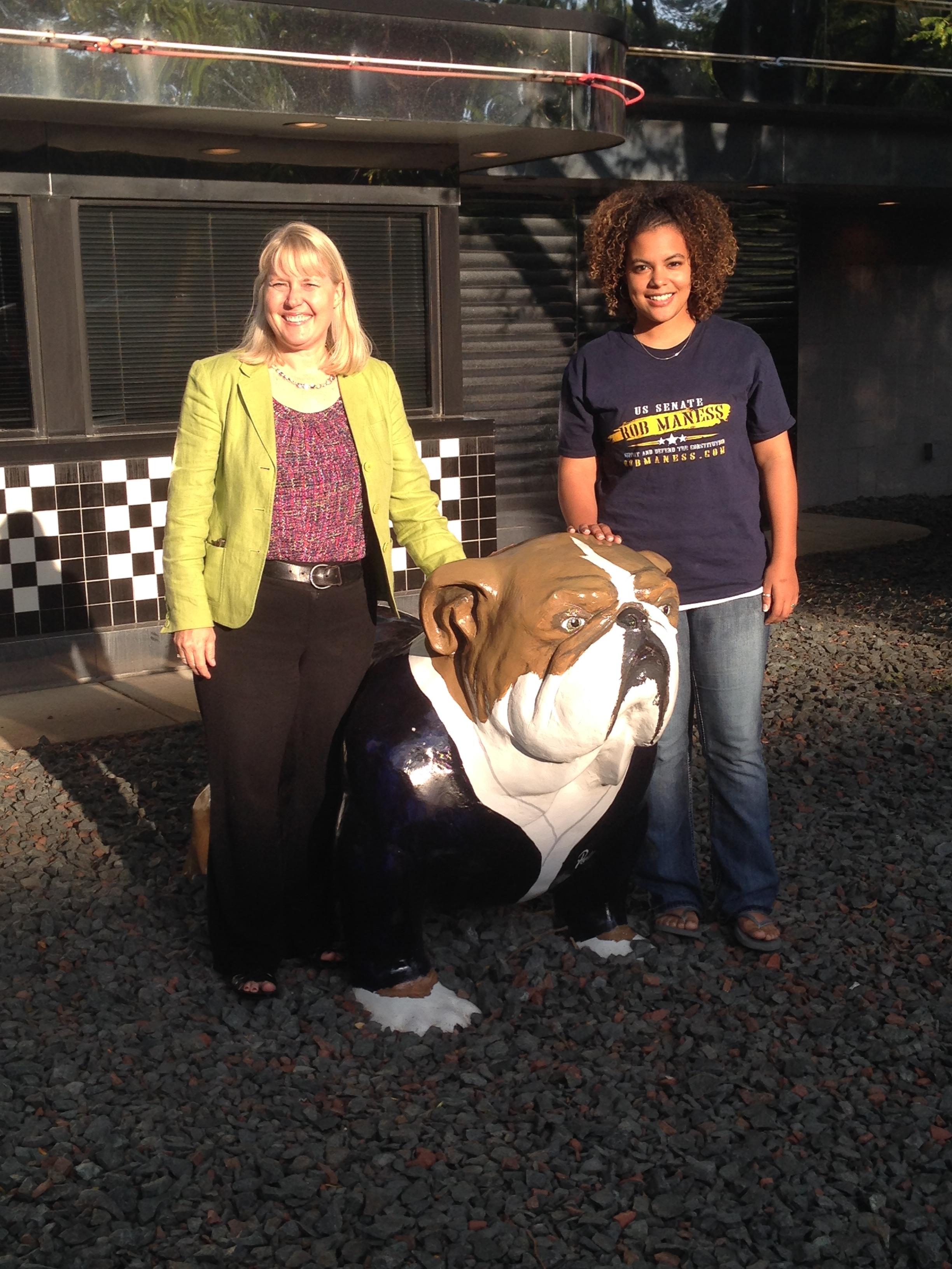 Eddye with mentor Stephanie