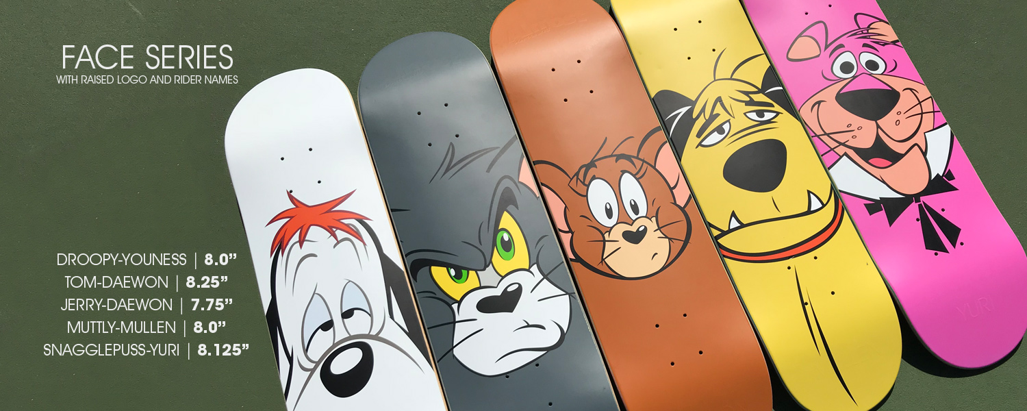 almost_skateboards_Droopy_Tom_Jerry_Muttley_Snagglepuss