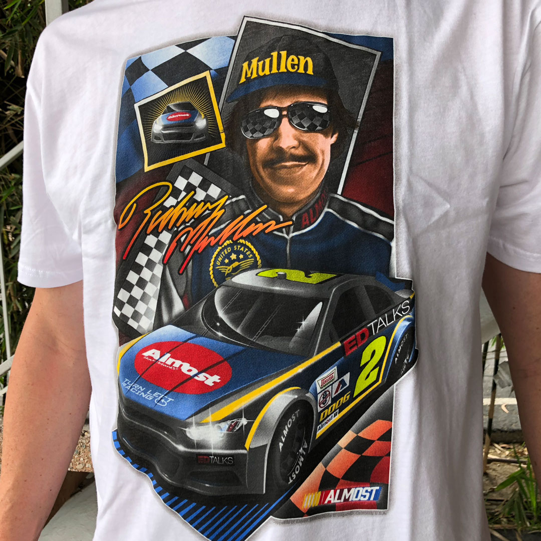 Almost Talladega White Premium T-Shirt