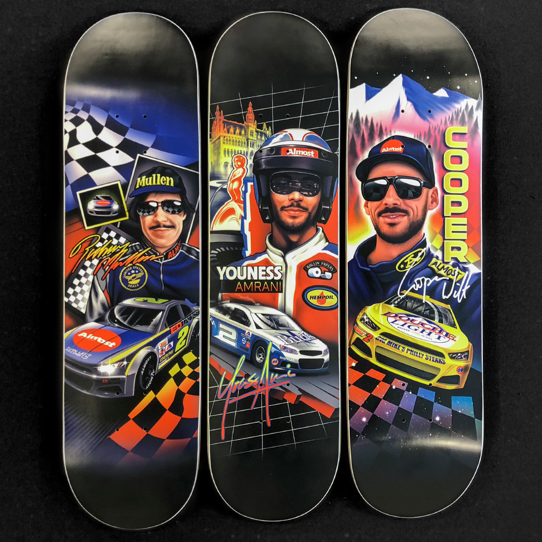 Almost_Skateboards_Talladega_Rodney_Mullen_CooperWilt_Youness_Amrani_Slick_Decks_09