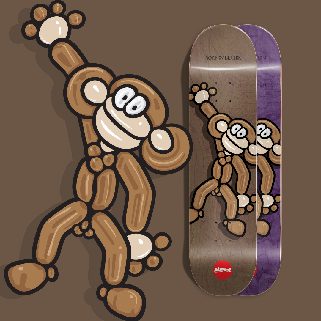 Almost skateboards Rodney Ballon Animal Deck.jpg