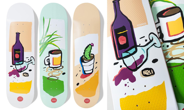 almost_skate_still_life_Youness_Rodney_Mullen_Yuri_Facchini_wine_coffee_cactus.jpg