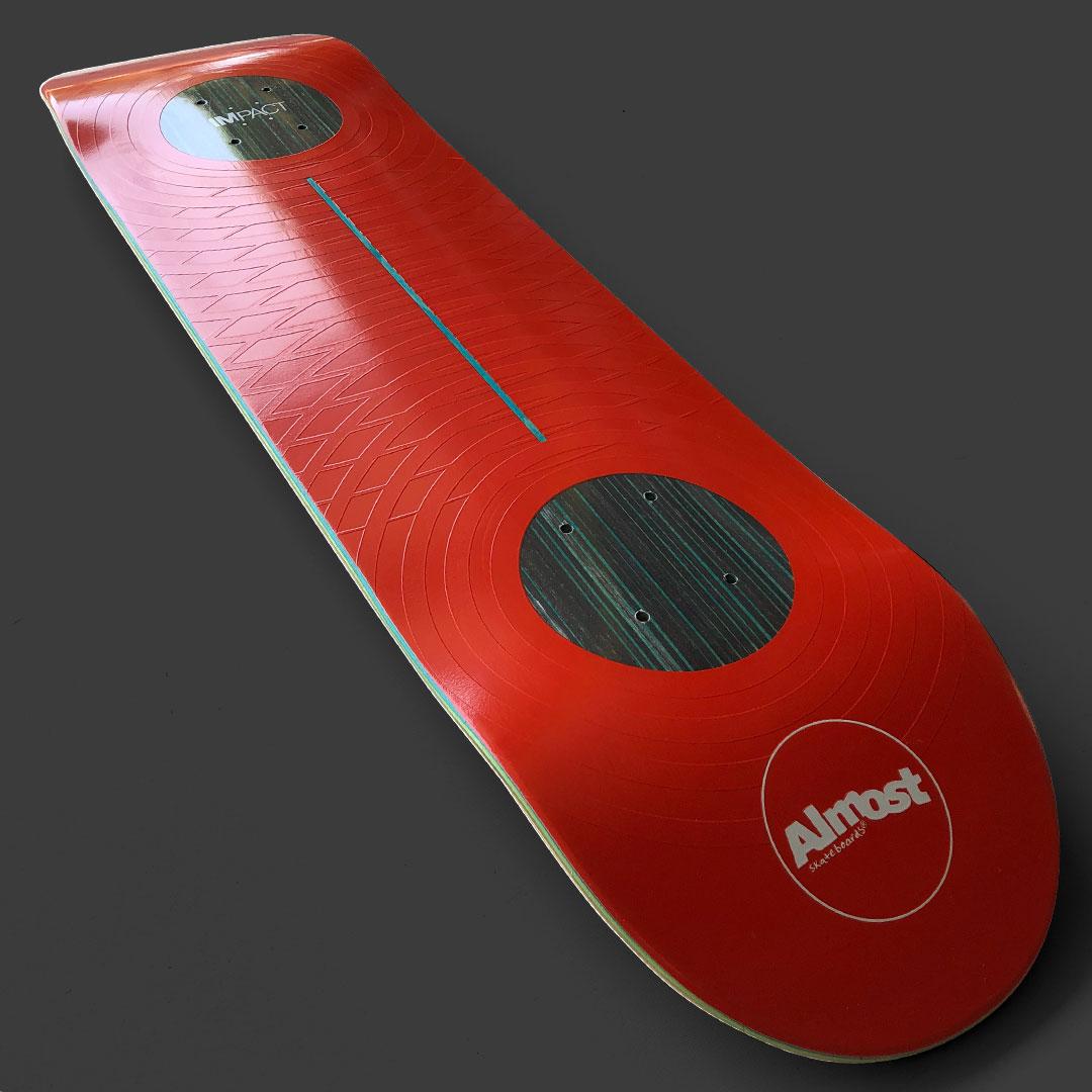 Almost Skateboards Impact rings pop stronger longer RED