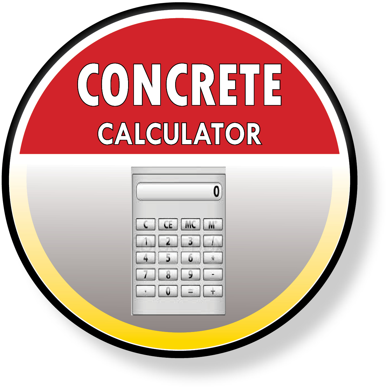 The concrete calculator is a handy tool that helps you estimate the size of your concrete project.