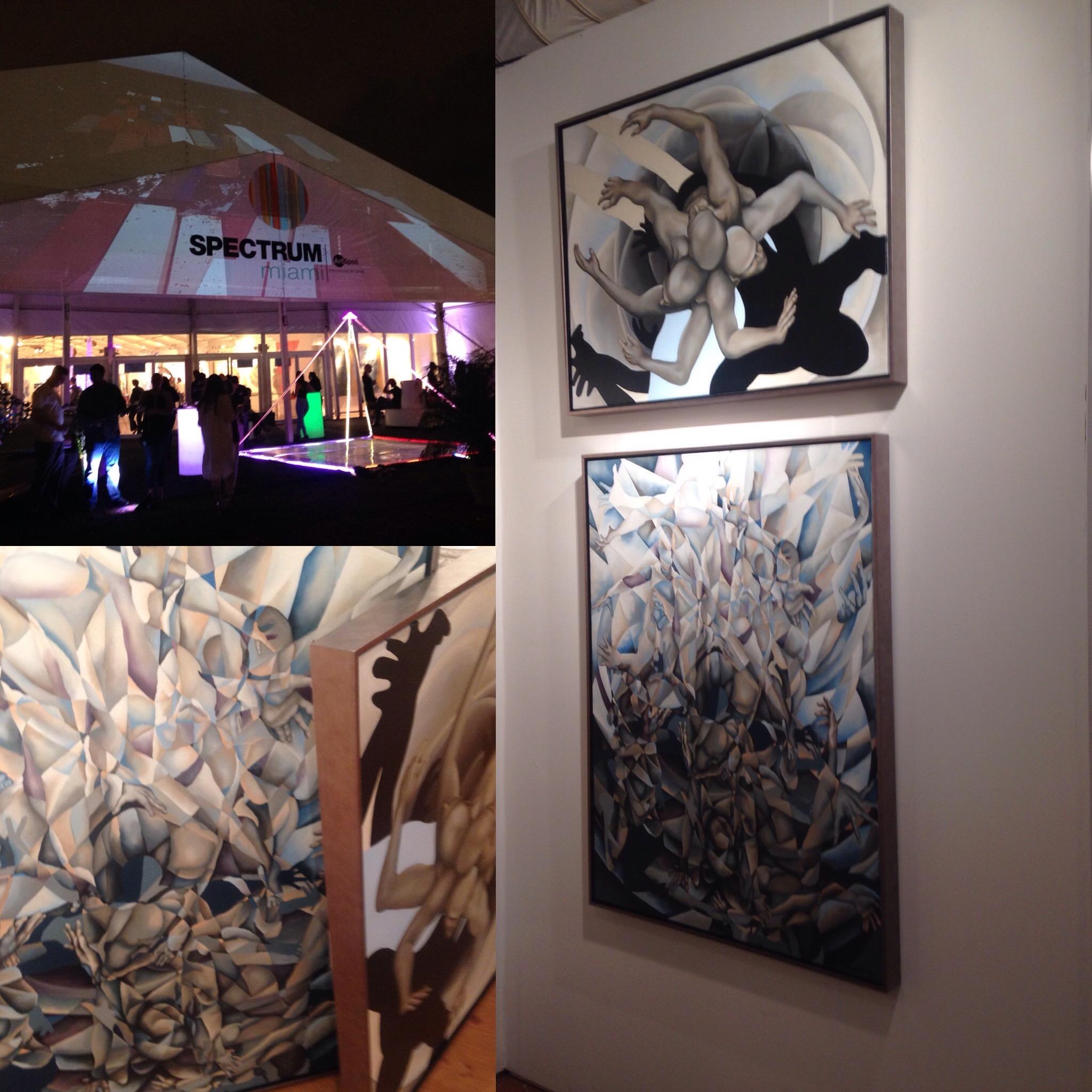 Miami Art Week Art Spectrum Miami Art Basel 2015 #gotitdone #girlpainter #ArtExpoNYnext