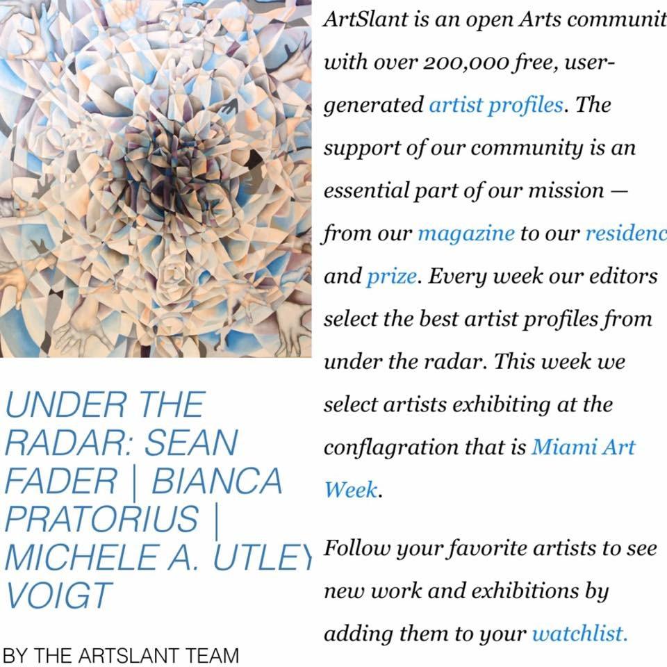 Artslant Magazine Article Dec. 2016.