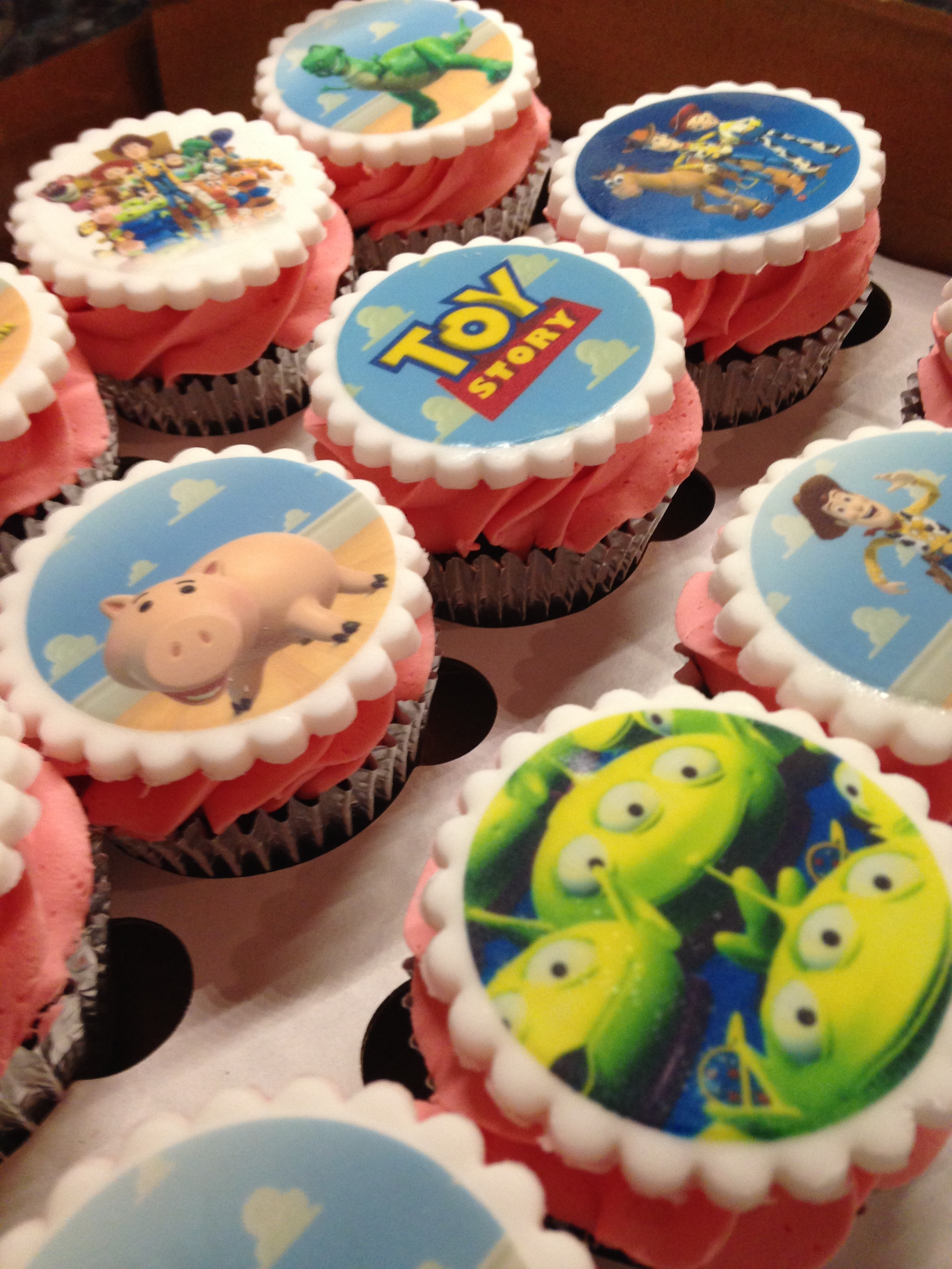 Toy Story Pink Cupcakes
