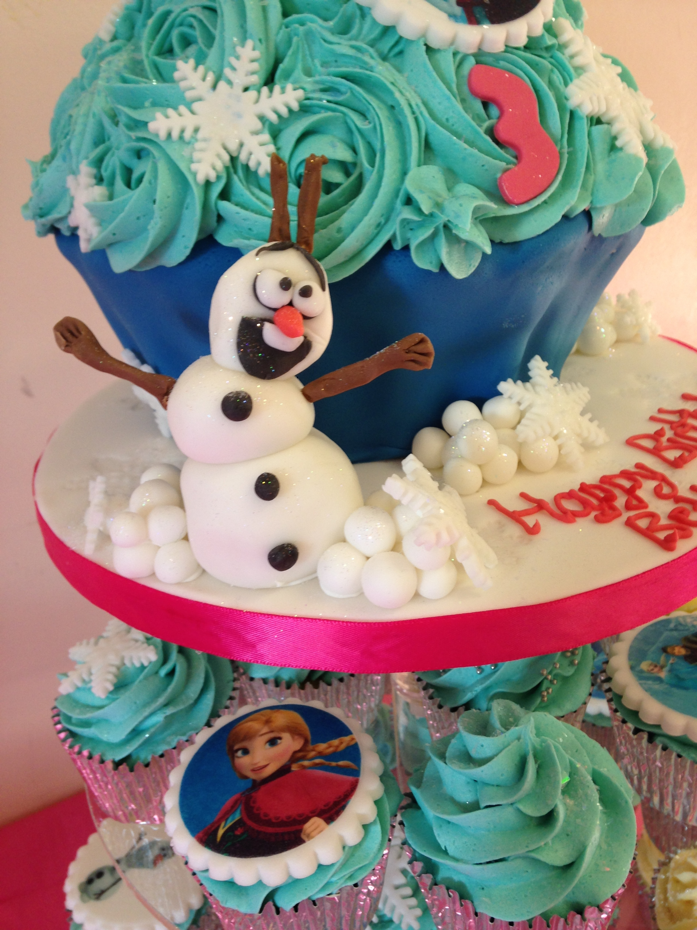 Frozen Giant Cupcake and Cupcakes