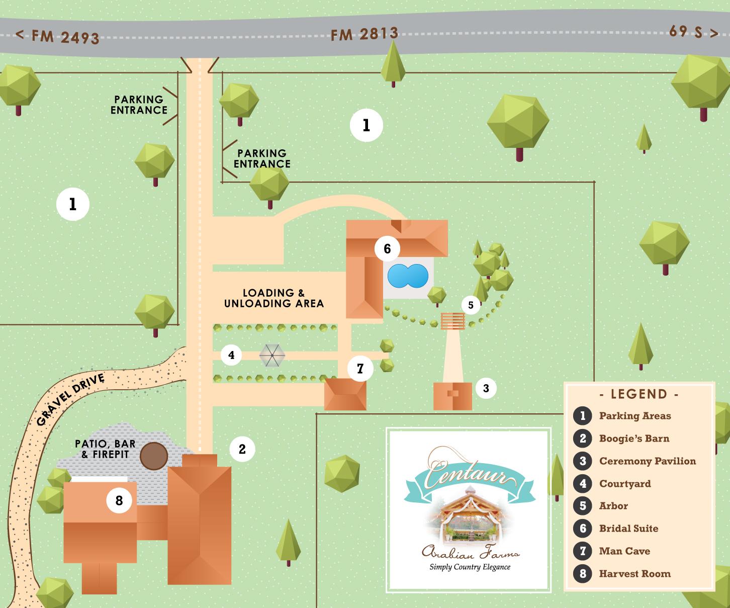 Centaur Walking Map