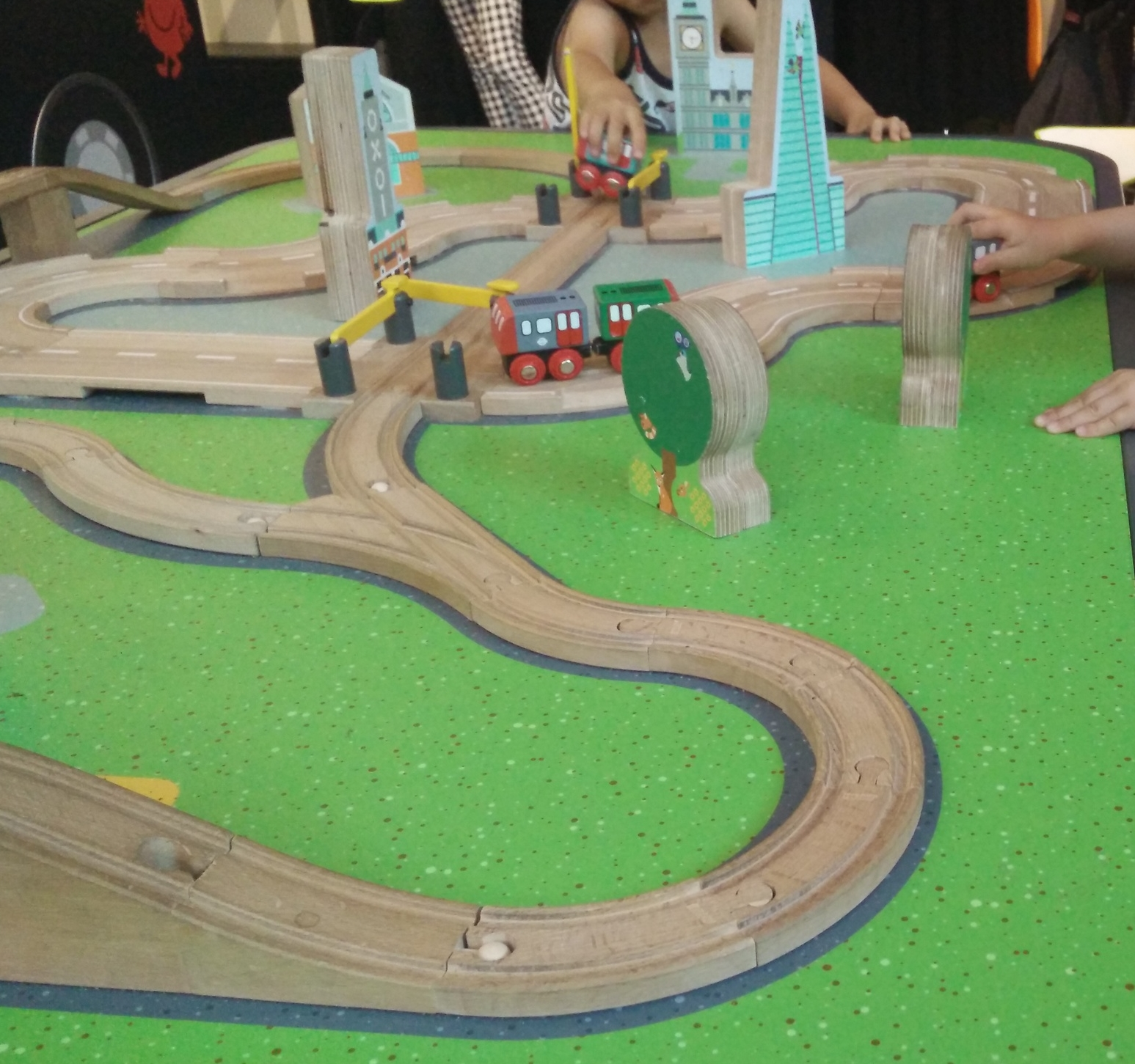 Bring your own trains here. Or maybe make your kids share the communal trains (don't need 2 per kid).