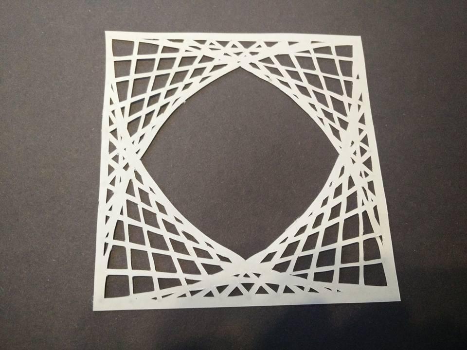 Paper Cutting Maths Art