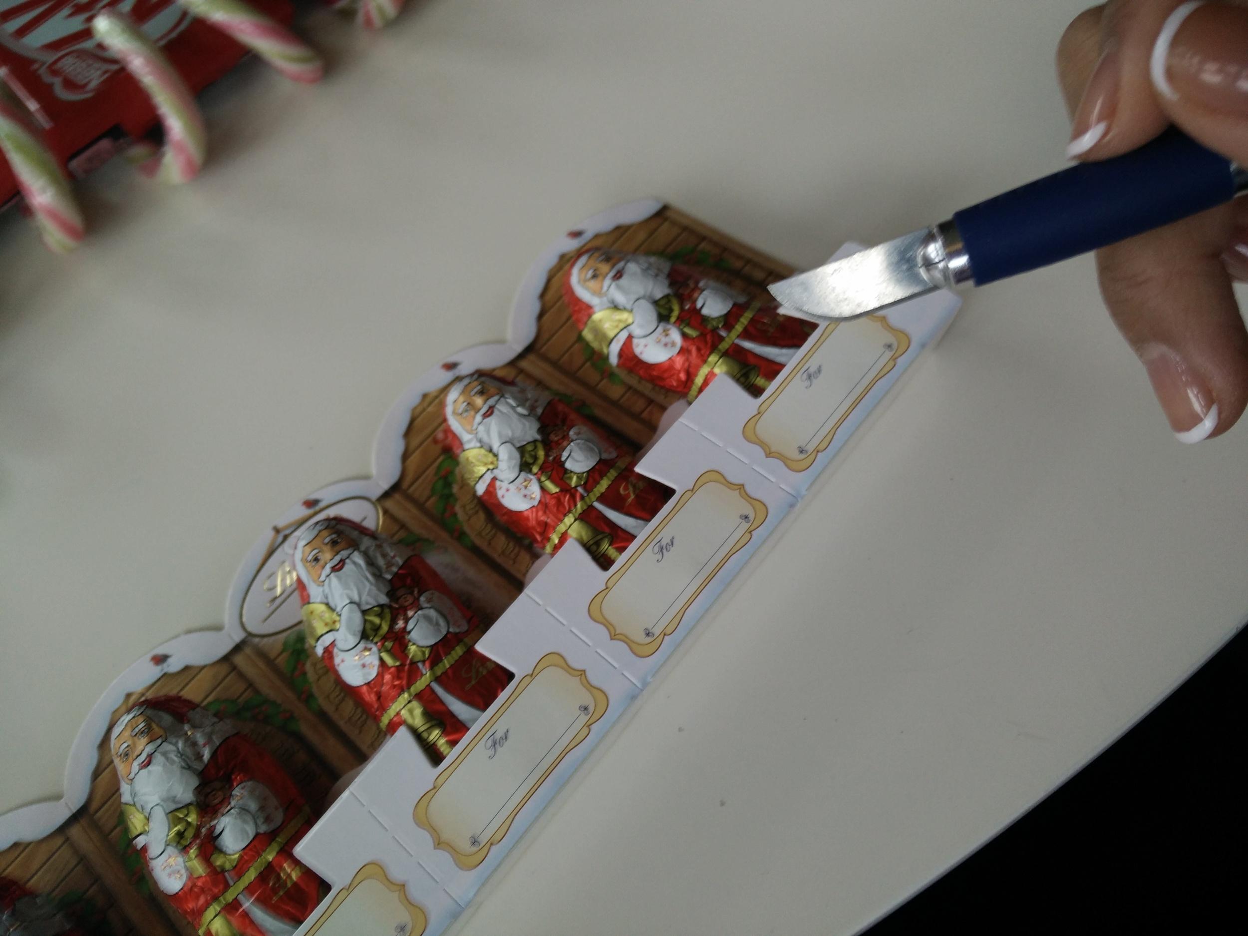 candy sleigh santa diy hampstead mums knife santa