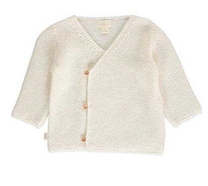Baby Alpaga - Ivory Alpaca Wool Baby Cardigan Bubblechops Hampstead Mums