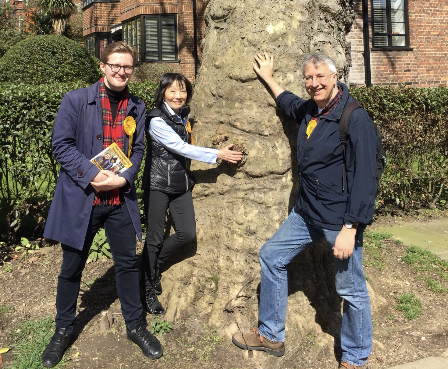 Left to Right: Will Coles, Linda Chung & Andrew Haslam Jones (Liberal Democrats)