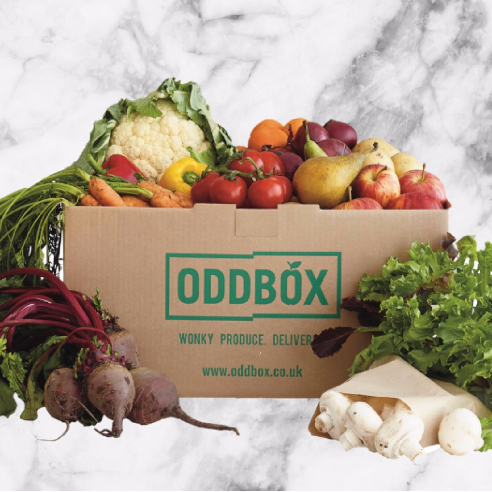 Oddbox - Oddbox tackles food waste by providing a wonky veg box subscription service, whereby it buys imperfect fruits and vegetables directly from local farms and markets for a fair price and delivers them to homes and offices. Most fruit ad veg that is not perfectly symmetrical is thrown away because supermarkets and other veg box delivery companies don't want them.