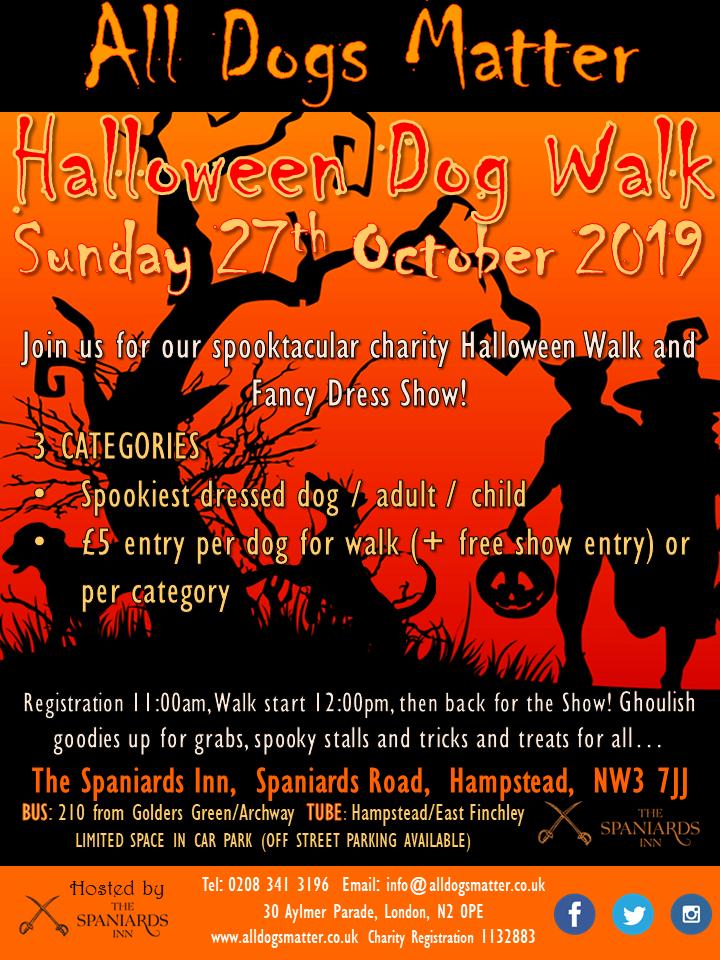 all dogs matter Hampstead Mums halloween