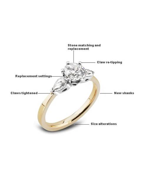 Goldsmith Jewellery diamonds repair Elgin
