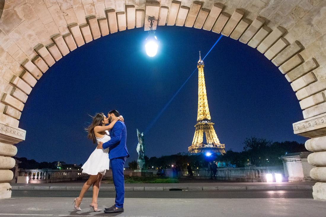 Pre wedding photographer in Paris; Christian Perona; Paris for Two; Eiffel tower; Christian Louboutin; Trocadero view; bride in Paris; sunrise in Paris;