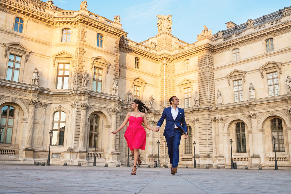Paris-photographer-paris-for-two-Christian-Perona-engagement-red-dress-love-pre-wedding-proposal-golden-hour-best-Louvre-museum-running-side-by-side.jpg