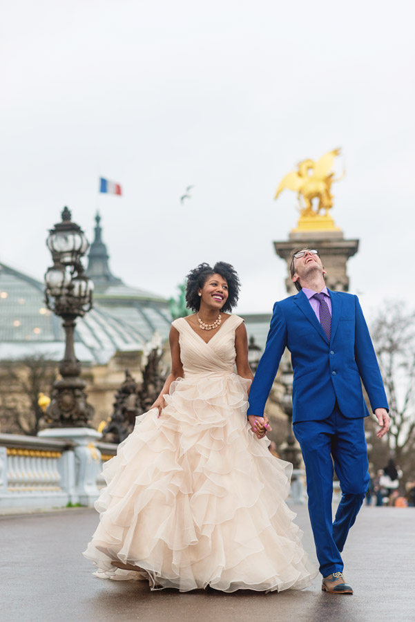 Paris-photographer-Paris-for-Two-Christian-Perona-professional-engagement-proposal-pre-wedding-portrait-Alexander-III-bridge-golden-statue-laughing-black-power-elopement.jpg