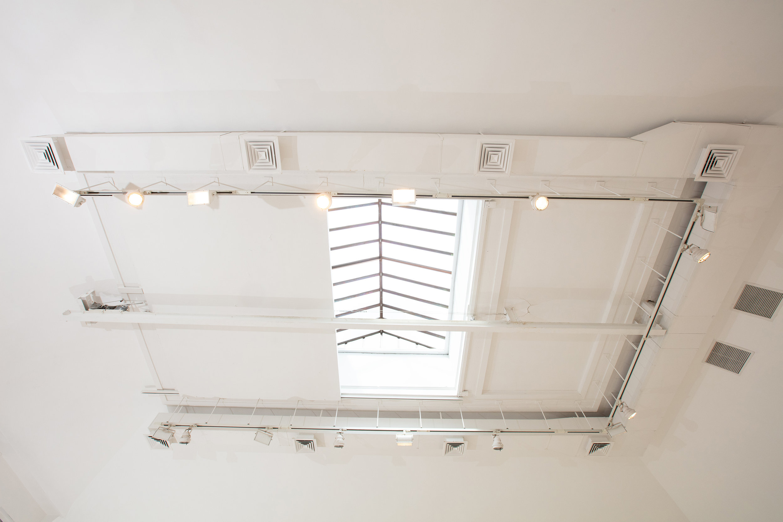 Skylight which can be closed via a switch.