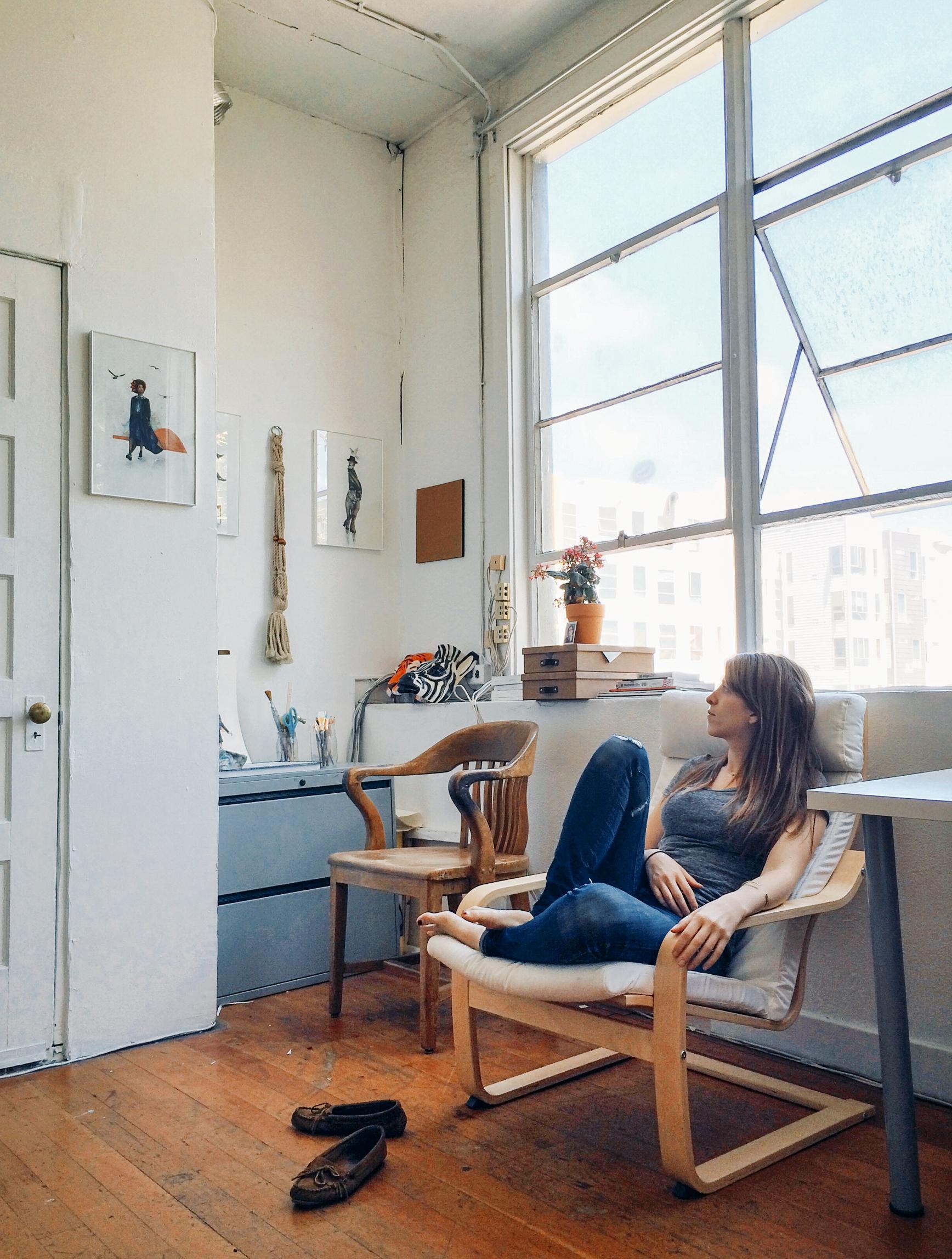 Pictured: my friend,  Casey , in her photo studio.