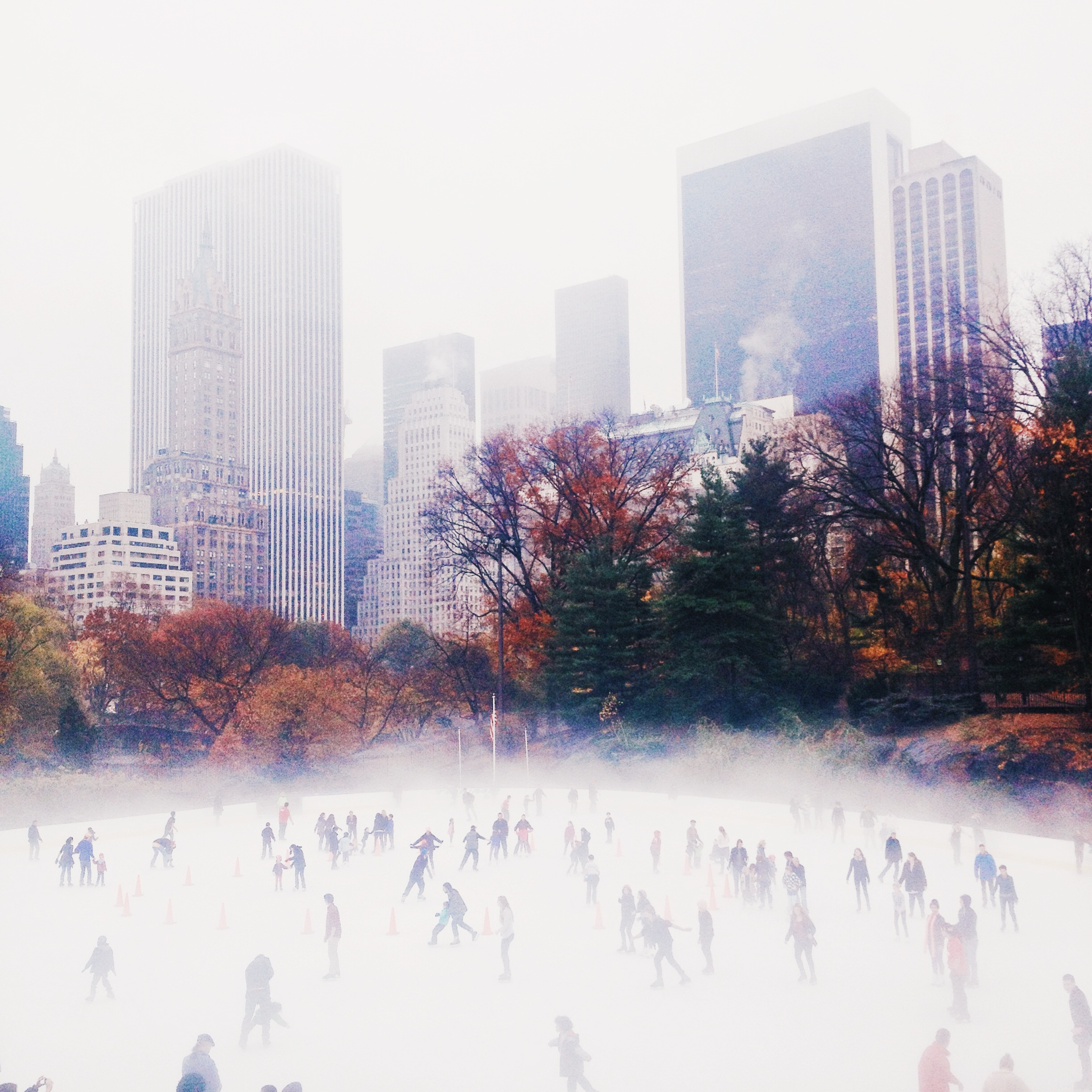 Ice Rink in Central Park, New York.