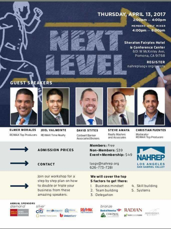 Come learn from an amazing panel of speakers. Each who have generated over $1 million in GCI a year!