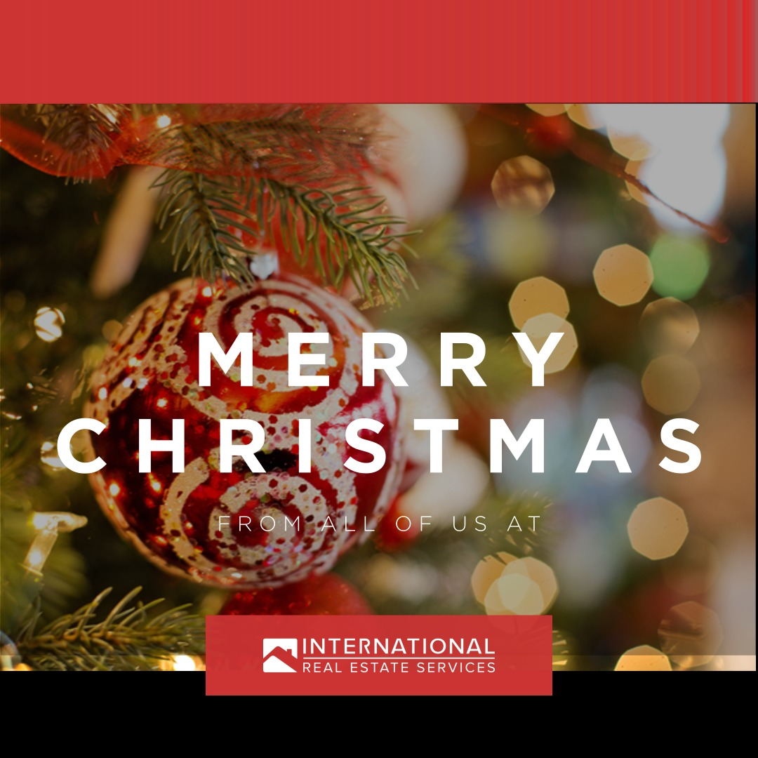 Wishing you a happy holiday season and thanks for all your support throughout the year. Have a blissful Christmas!  - From International Real Estate Services