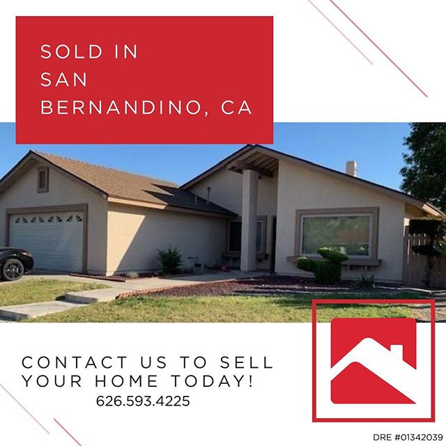 SOLD❗️🔑🏠 In San Bernardino, Ca! We can do the same for you! Contact us today 626.593.4226