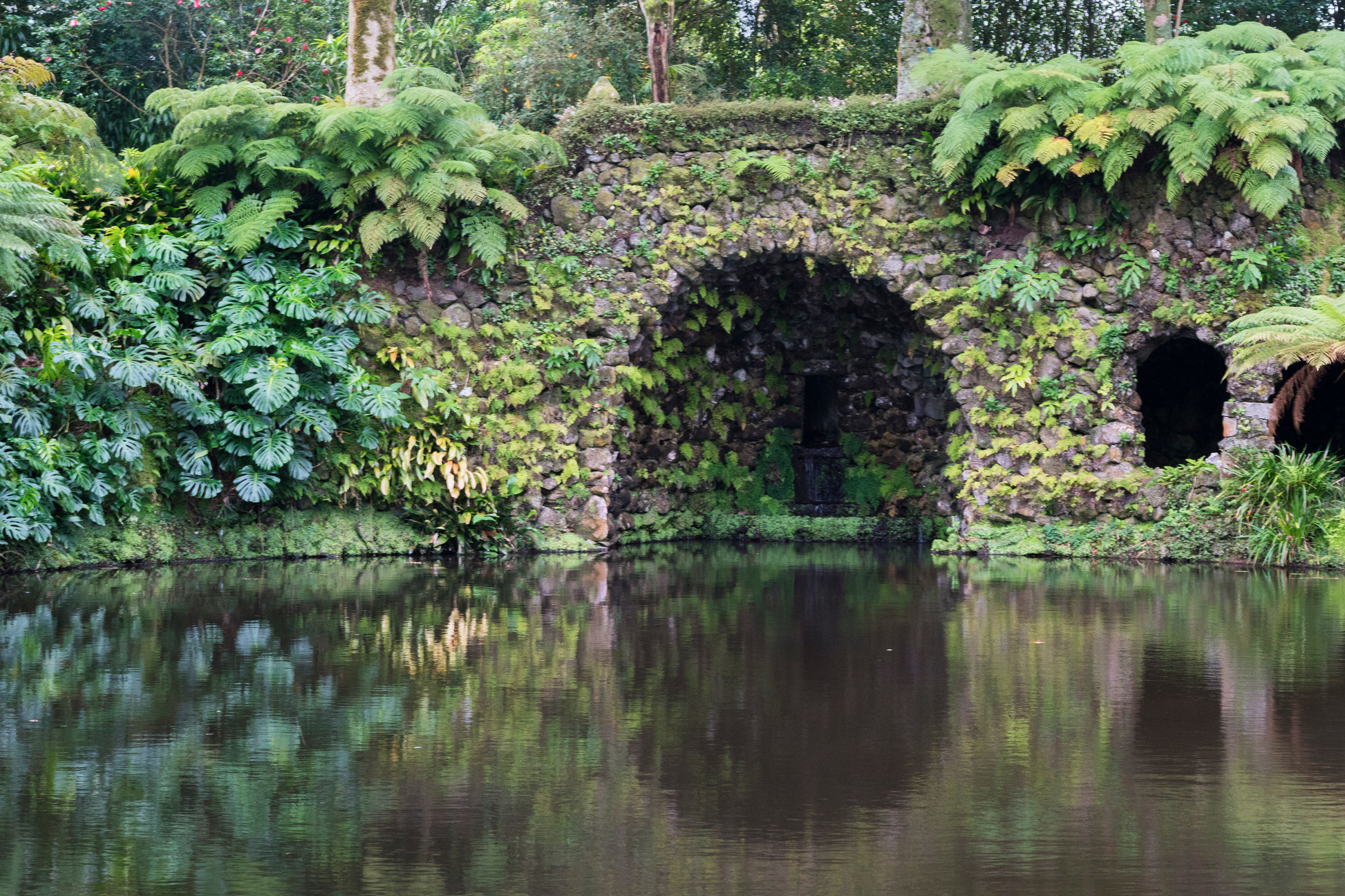 Terra Nostra Gardens, a serene, picturesque park & botanical garden dating to 1775, best known for its thermal baths and collection of roses and camellias.