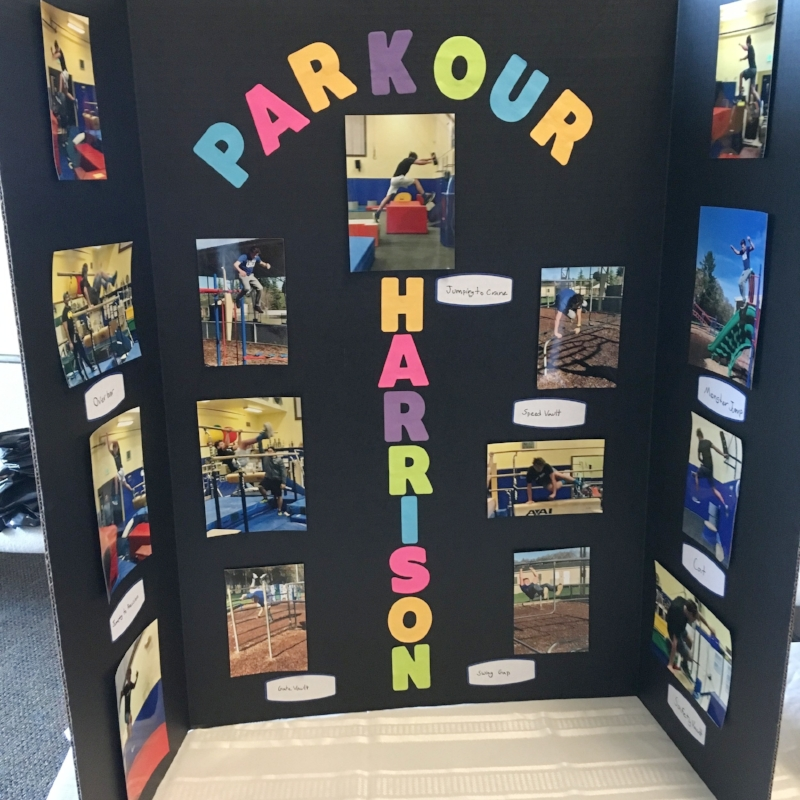 Harrison, inspired by a 7th grade Friday elective, worked with a local coach to learn the sport -- the art? -- of parkour. He made a video to demonstrate his skills on a route he devised incorporating the Ordway playground. His athleticism and humor were on display!