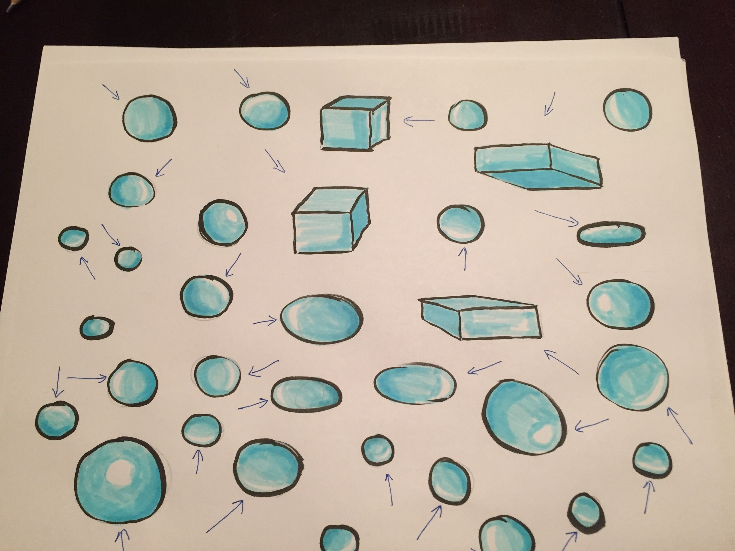 Shading with different light directions.