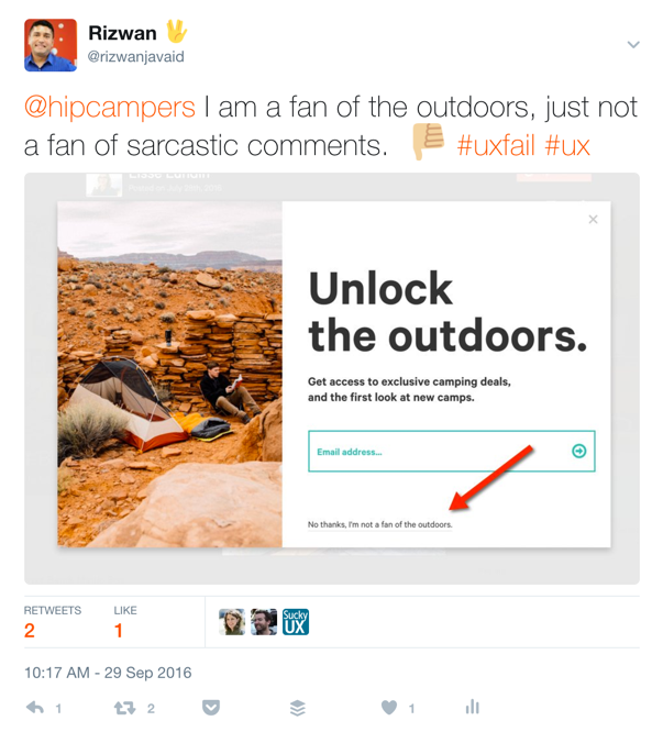 No, thanks. I'm not a fan of the outdoors. Really?