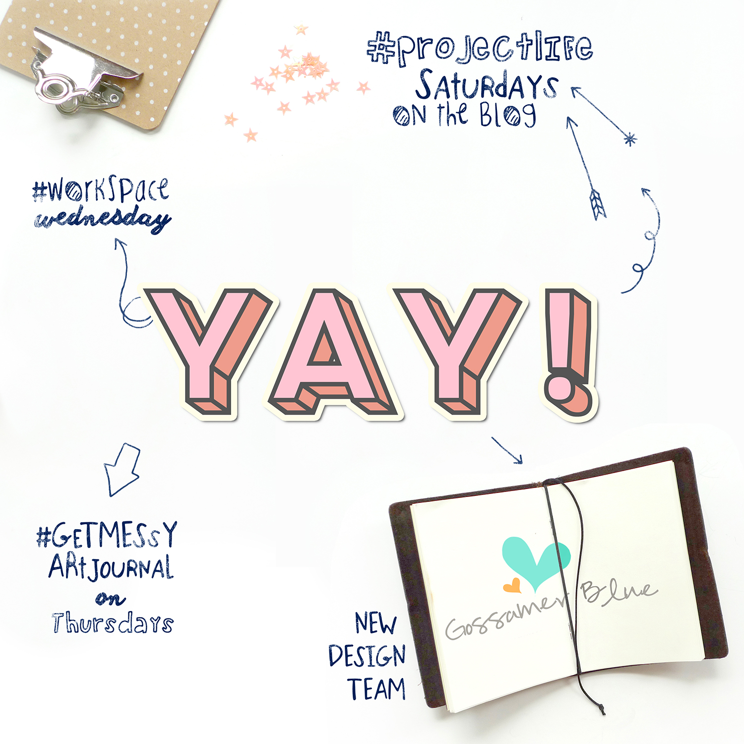 Analog Paper | Create an Adorable Blog Graphic with Free Resources