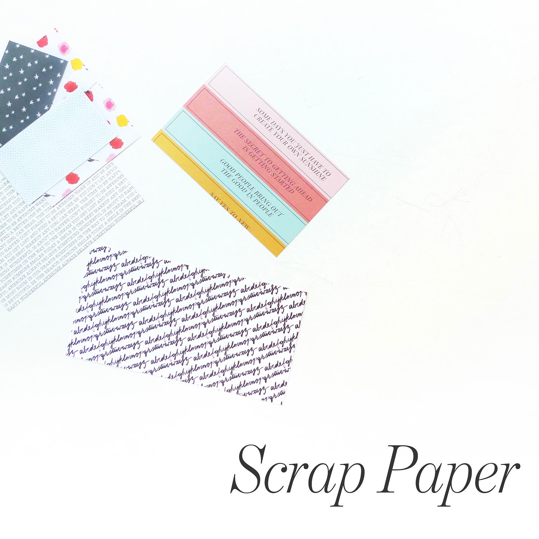Workspace   Scrap Paper Organization