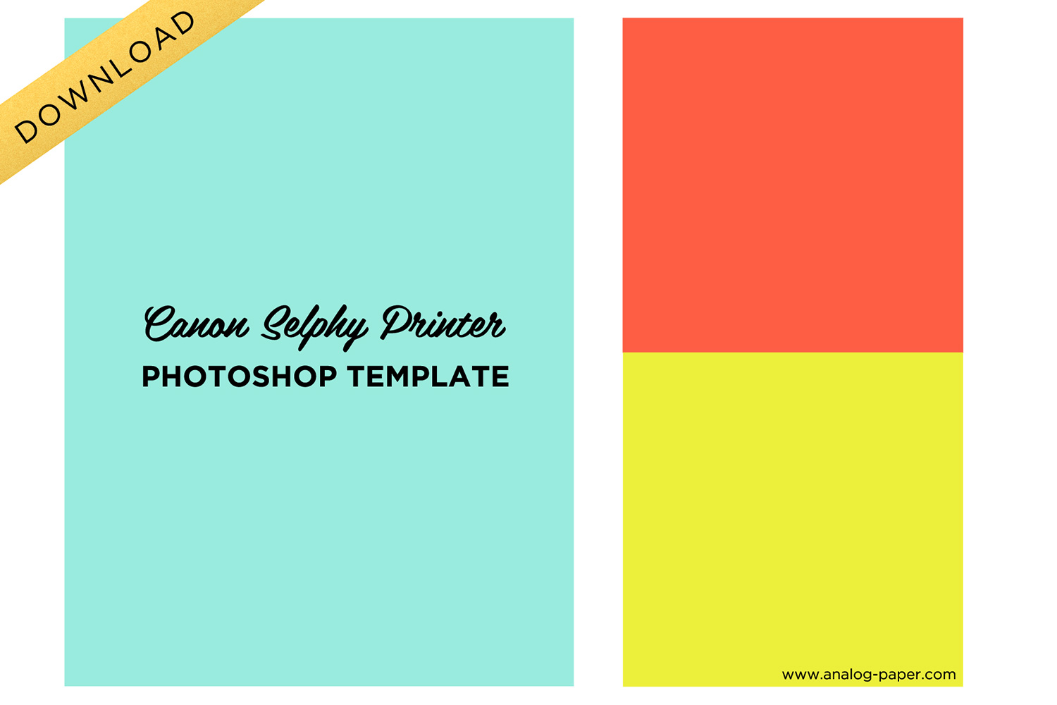Analog Paper | Download | Canon Selphy Template