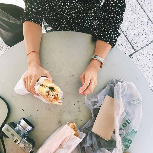 Day5 | yesterday was filled with a lot of procrastinating 😳 and some banh mi ☺️ #foodballin 📷 by @re1000  #100happydays #VSCOcam #nomnom #fuji #x100T