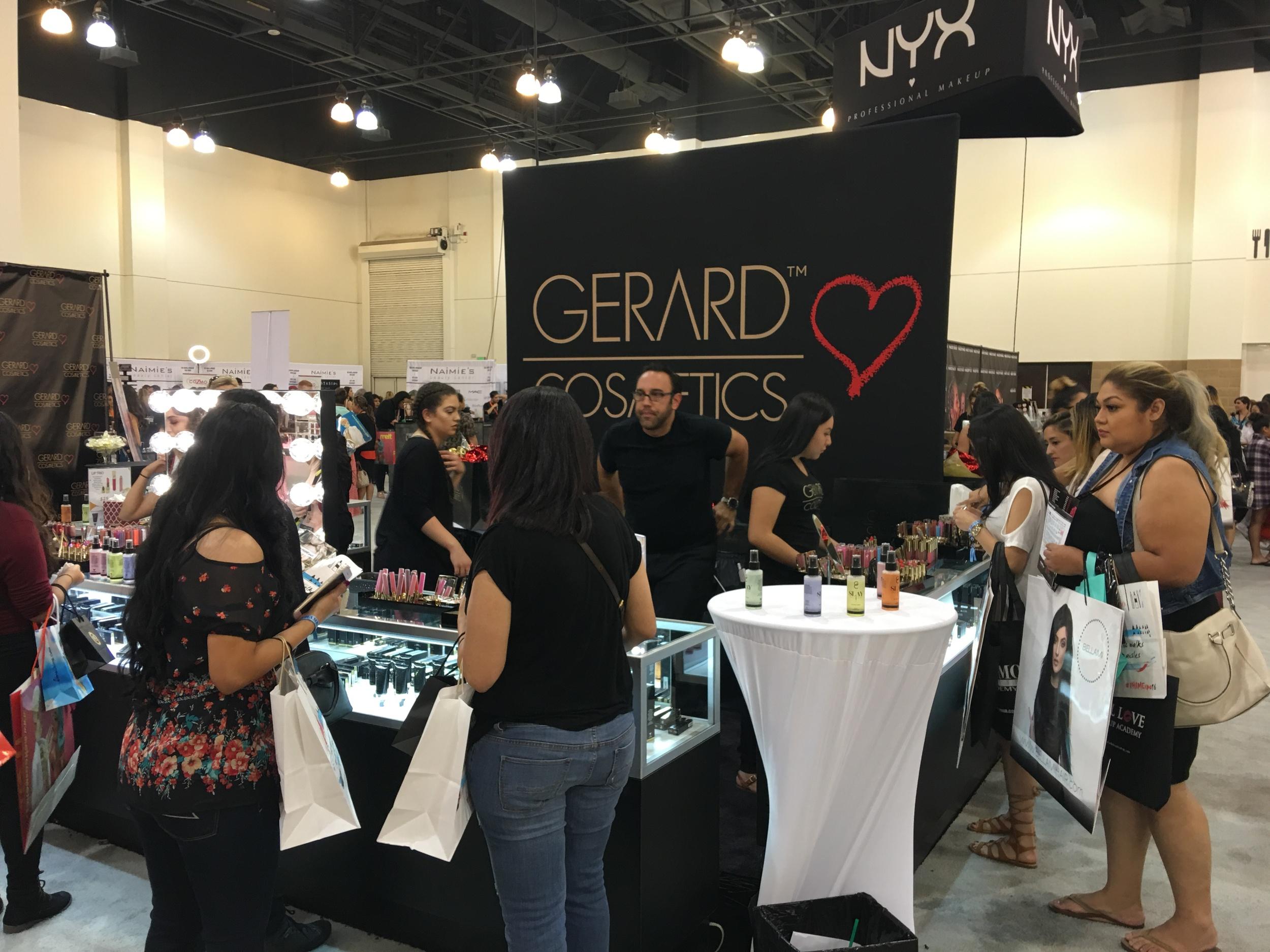 Gerard Cosmetics Booth, PHAMExpo Los Angeles 2016