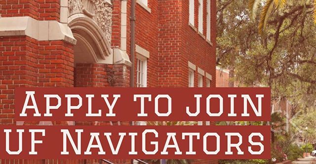 Hello Gator Nation! Early applications for our mentor and mentee program close July 15th. Head over to UF Navigators website and fill out the match form: http://www.ufnavigatorsinternational.com/join-us  Don't forget to sign up for our listserv and Facebook page to stay in touch
