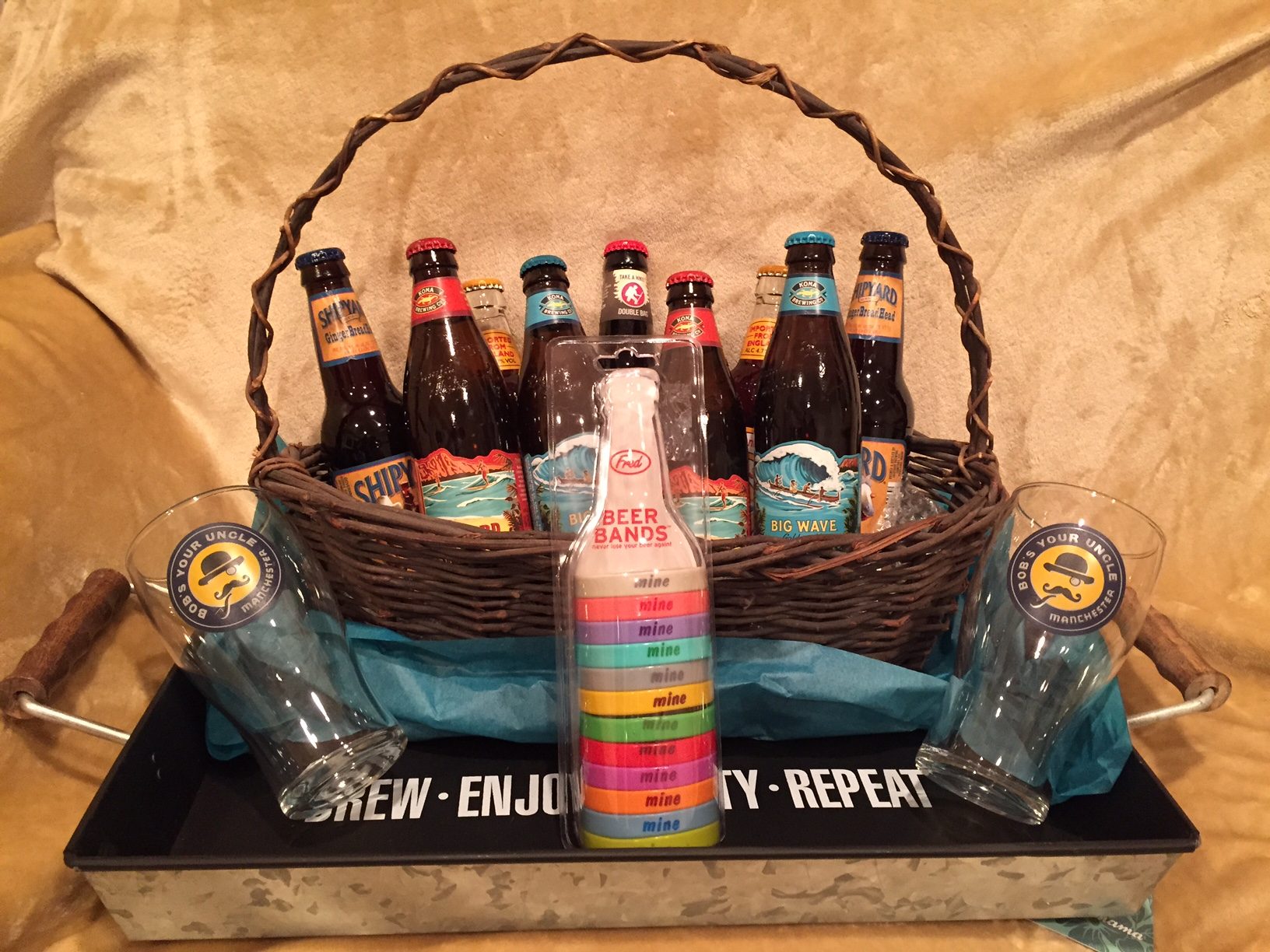 Beer lover's basket....mmmm....beer