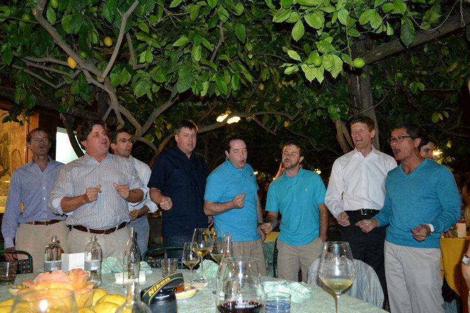 Tones alumni sing at Walter Jean '89's wedding in Italy