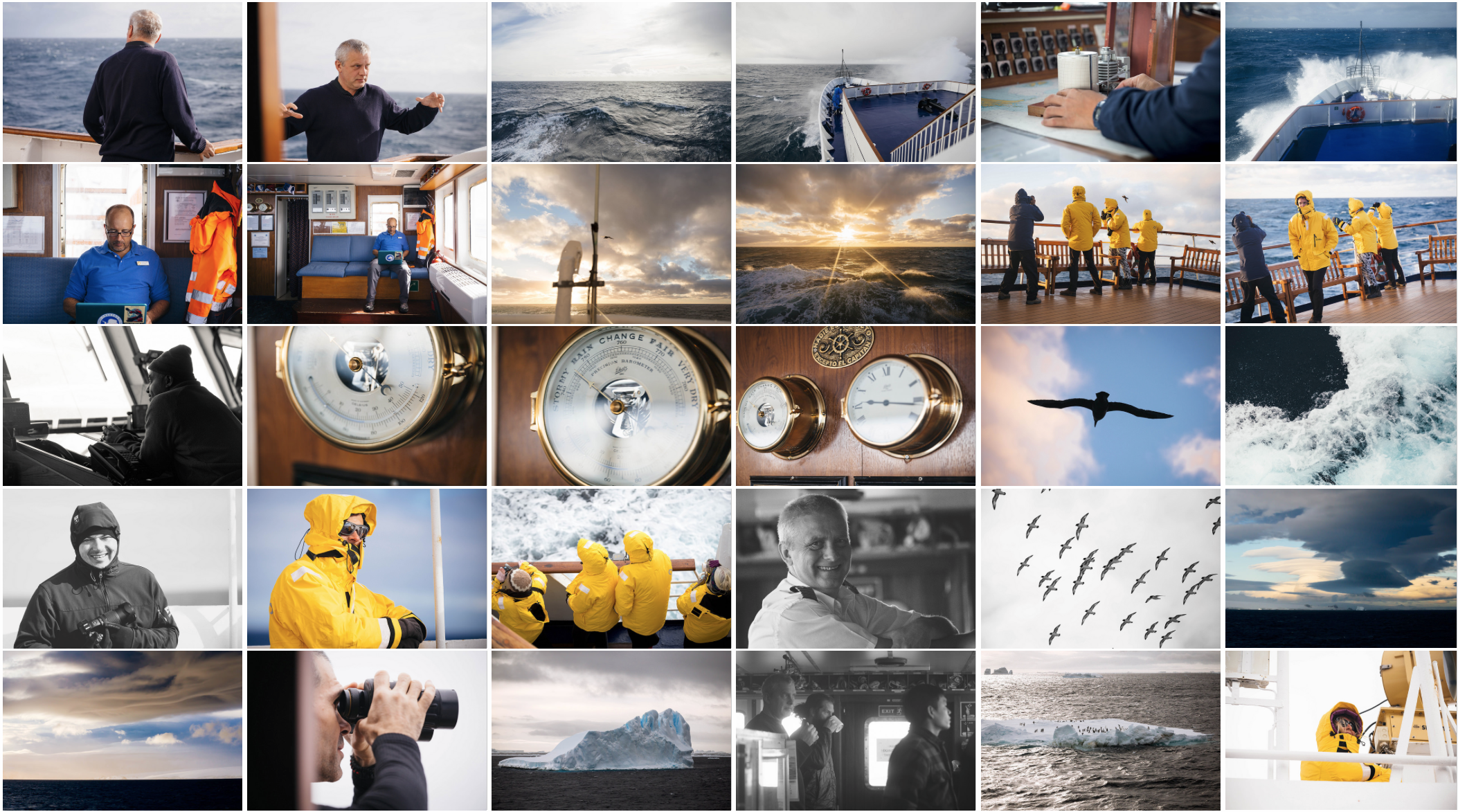 Contact Sheet of photo selects from the Drake Passage aboard the Sea Adventurer.