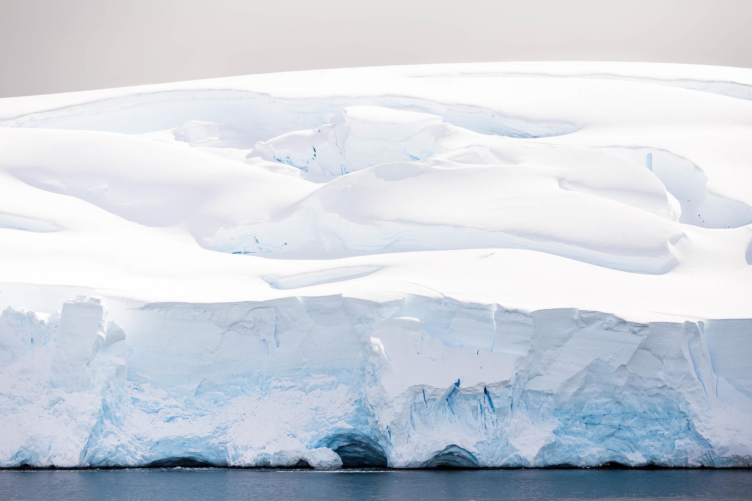 The iconic blue, so common to glacier faces in Antarctica. Salvesen Cove, Antarctica.
