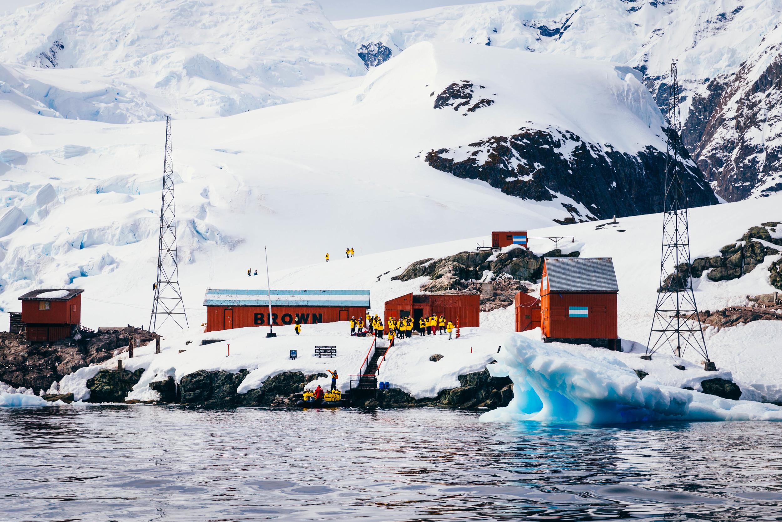 Almirante Brown Base atParadise Bay.