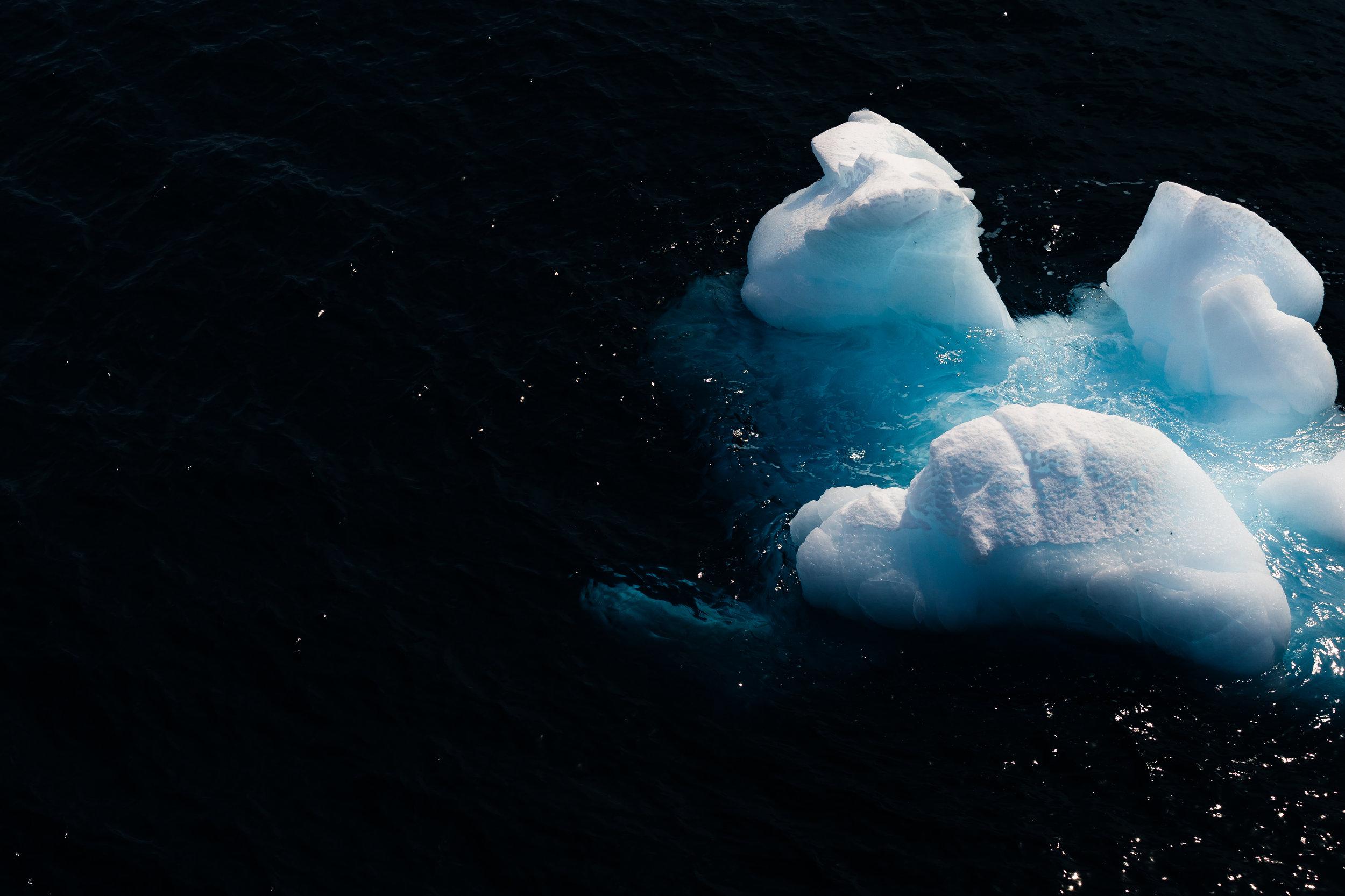 Drifting Ice Approaching the Antarctic Peninsula