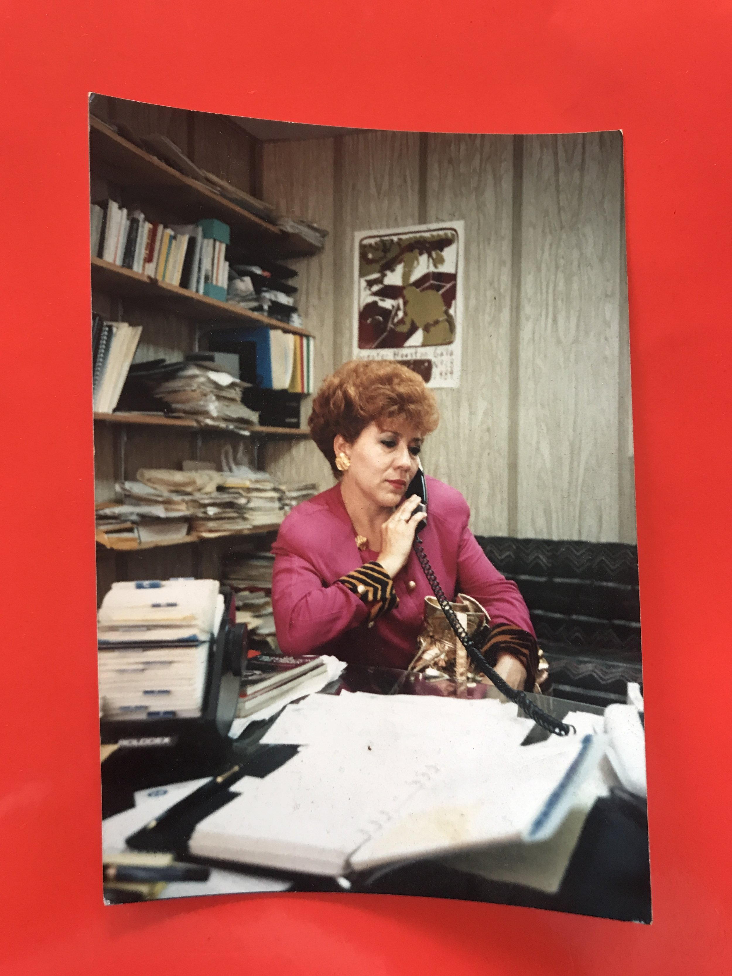 A photo saved by Victor Alfaro-Clark, Centro Binacional de Derechos Humanos director. The woman pictured helped Alfaro-Clark organize Vanguardia de Mujeres Libres Maria Magdalena among other civil and human right projects in the 80's.