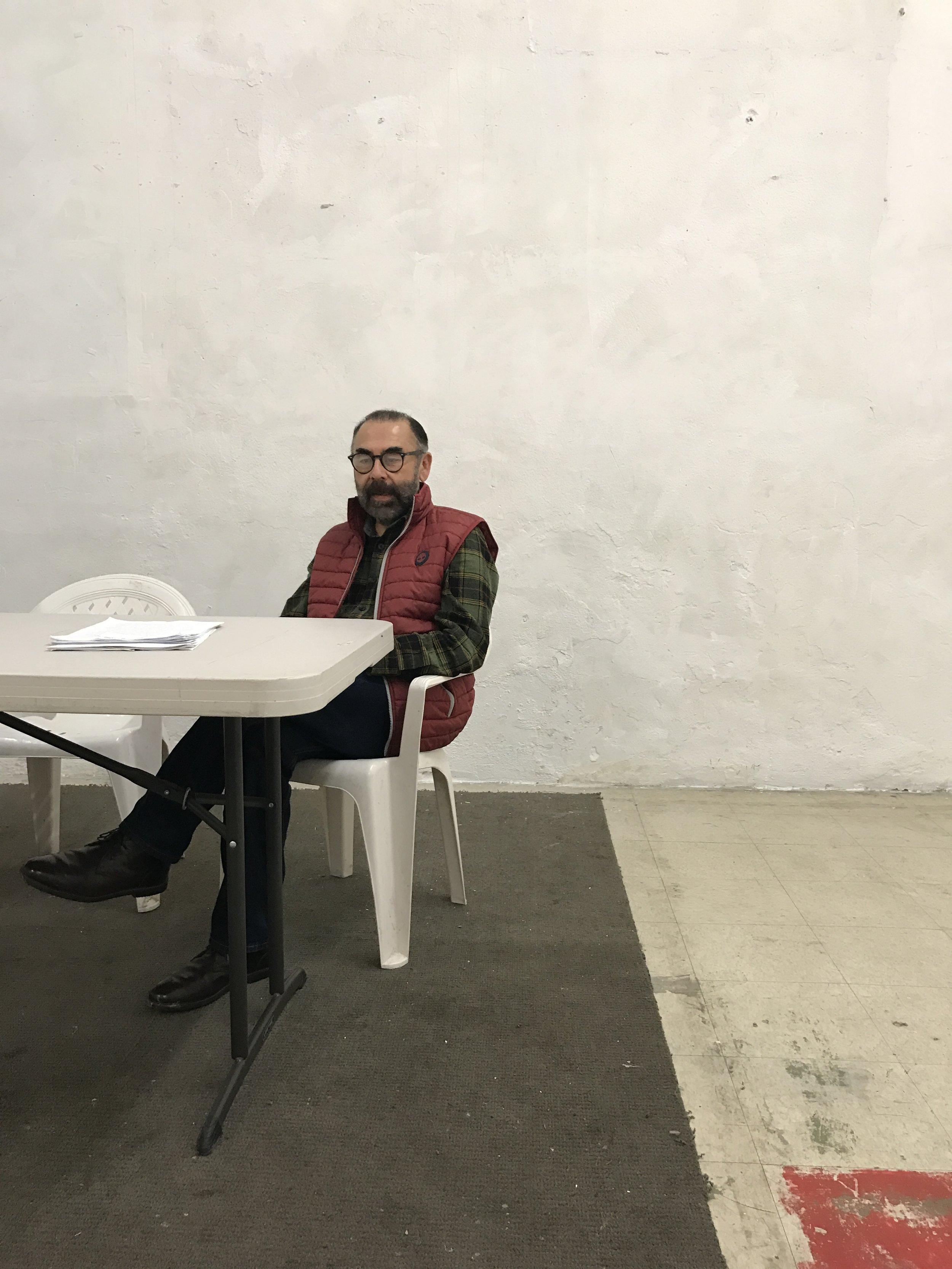 Victor Alfaro-Clark, Centro Binacional de Derechos Humanos director, leads a group of San Diego State University students through bi-national civil right discussions in Tijuana, Baja California.  Photo by Marlyn Carrillo