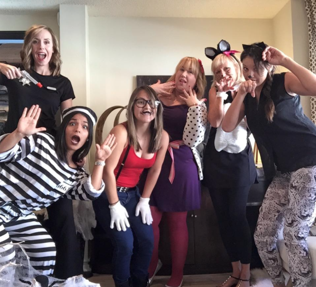 We have so much fun together as a team so when Halloween fell on a Friday, we HAD to celebrate at the office together with a costume party!