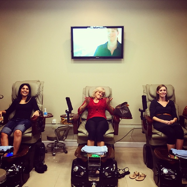 ...and pedicures!